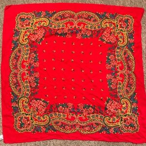 Red detailed scarf from Portugal